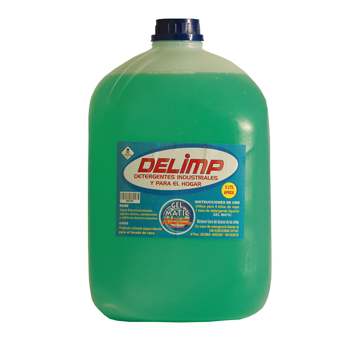 Detergente gel matic 5 litros